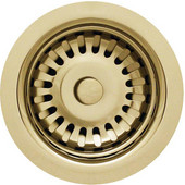 Basket Strainer, 3-1/2'Dia x 3'H, Brass