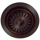 Basket Strainer, 3-1/2'Dia x 3'H, Oil Rubbed bronze Highlight