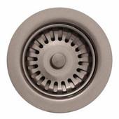 Kitchen Sink 3-1/2'' Basket Strainer, Brushed Nickel