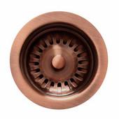 Kitchen Sink 3-1/2'' Basket Strainer, for Duet Series, Antique Copper