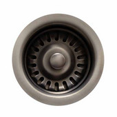 Kitchen Sink 3-1/2'' Basket Strainer, Pewter