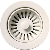Kitchen Sink 3-1/2'' Basket Strainer, for Duet Series, Plastic, White