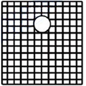Noah Collection - Matching Sink Grid, 17'' W x 18'' D, 1 Grid