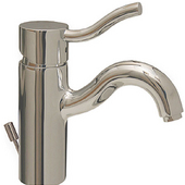 - Venus Single Hole/Single Lever Faucet, Brushed Nickel (Shown in Polished Chrome)
