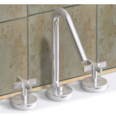 Metrohaus Lavatory Widespread Faucet with 45º Swivel Spout, Brushed Nickel