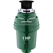 Cyclonehaus High efficiency garbage disposal with solid brass flange and quite operation, 1 HP, Oil Rubbed Bronze Finish