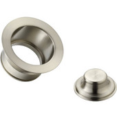 Cyclonehaus extended, solid brass, flange for deep fireclay sinks with 3-1/2'' Drains, Brushed Nickel Finish