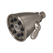 Beautiful Expressions Brushed Nickel Shower Head with Adjustable Jets, 12''