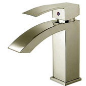 Jem Collection Single Hold Lever Faucet in Brushed Nickel with Pop Up Waste