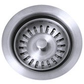Waste Disposer Trim for Deep Fireclay Sink Applications, High Polished Chrome