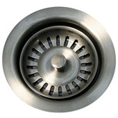 Waste Disposer Trim for Deep Fireclay Sink Applications, Pewter