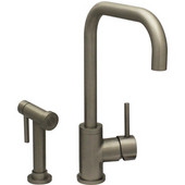 Jem Collection Brushed Nickel Single Hole/Single Lever Handle Faucet with Swivel Spout and a Solid Brass Side Spray, 2-1/4'W x 8'D x 9'H