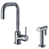 , Single Hole/Single Lever Handle Faucet With Swivel Spout, 9''W x 8''D x 13 1/4''H