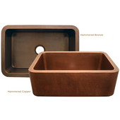 Undermount Sink w/ Hammered Copper Front Apron
