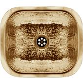 - Hammered Texture Entertainment/Prep Sink, Hammered Brass, 13-5/8''W x 11-1/2''D x 5''H