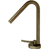 Metrohaus Single Hole Faucet with 45� Swivel Spout, Brushed Nickel