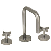 Metrohaus Widespread Lavatory Faucet with Swivel Spout & Pop-up Waste, Polished Chrome