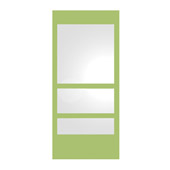 New Generation ECOLOOM Yellow Laminated Glass Framed Rectangular Bathroom Mirror