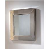 New Generation Square Mirror, Polished Stainless Steel, 23-1/2''D x 23-1/2''H