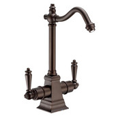 Point of Use Instant Hot/Cold Water Faucet with Traditional Spout and Self Closing Hot Water Handle, Oil Rubbed Bronze
