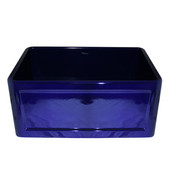Reversible Series Fireclay Sink with Concave Front Apron, Sapphire Blue, 24''W x 18''D x 10''H