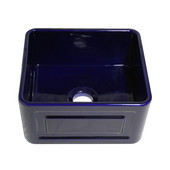 Reversible Series Fireclay Sink with Raised Panel Front Apron, Sapphire Blue, 20''W x 18''D x 10''H