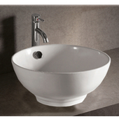 Isabella Round Above-Mount Bath Sink, White Finish