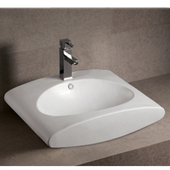 Isabella Rectangular Above-Mount Bath Sink, White Finish