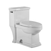 Magic Flush Eco-Friendly One Piece Toilet, Single Flush, 1.28 GPF Capacity, 17-1/2''W x 28''D x 28-1/2''H