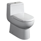 Magic Flush Eco-Friendly One Piece Toilet, Siphonic Action Dual Flush System, 1.6/1.1 GPF Capacity, 15-1/4''W x 26-1/4''D x 26-5/8''H