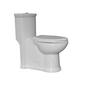 Magic Flush Eco-Friendly One Piece Toilet, Siphonic Action Dual Flush System, 1.3/0.9 GPF Capacity, 15''W x 28-1/2''D x 31''H