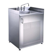 e Noah's Collection Utility Series single door stainless steel cabinet with sink, 30''W x 25''D x 35''H