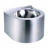 Noah's Collection Stainless Steel Commercial Single Bowl Wall Mount, Commercial Wash Basin, 15-3/4''W x 15-3/4''D x 11-5/8''H