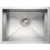 Noah Collection Commercial Single Bowl Undermount Sink, Rectangular Shape, 20''W x 15''D x 10'' H, Brushed Stainless Steel