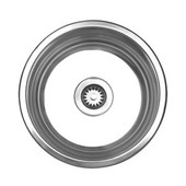 Large Round Drop-In Sink, 17 3/4'' Dia., Brushed Stainless Steel