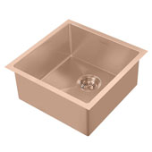 Noah Plus Collection 17-3/4''W 16 Gauge Single Bowl Linen Textured Dual-Mount Kitchen Sink Set With Strainer and Sink Grid, Copper Finish