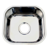 Single Bowl Undermount Sink, 10''W x 11'' D, Brushed Stainless Steel