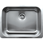 Noahs Collection Undermount Kitchen Sink, Brushed Stainless Steel, 23-1/2''W x 18-1/4''D x 8-1/2''H