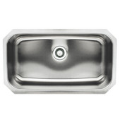 Noahs Collection Undermount Kitchen Sink, Single Bowl, Brushed Stainless Steel, 30-1/2'' W x 18-1/4'' D, 9'' Bowl Depth
