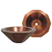 Above Mount Decagon Shaped Basin, Smooth Bronze