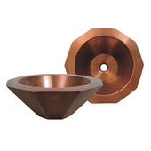 Above Mount Decagon Shaped Basin, Smooth Copper