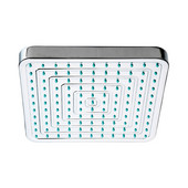 Square Rainfall Shower head with Rubber Tips in Polished Chrome