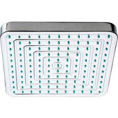 Square Rainfall Shower head with Rubber Tips in Brushed Nickel