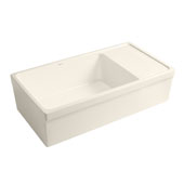 Biscuit Fireclay Sink w/ Integral Drain Board