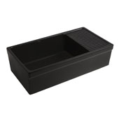 Black Fireclay Sink w/ Integral Drain Board