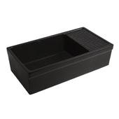 Black Fireclay Sink w/ Integral Drain Board