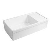 White Fireclay Sink w/ Integral Drain Board