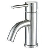 Waterhaus Single Hole Single Lever Lavatory Faucet in Polished Stainless Steel