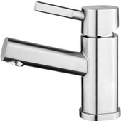 Waterhaus Single Hole, Single Lever Lavatory Faucet, Brushed Stainless Steel Finish, 2-1/4''W