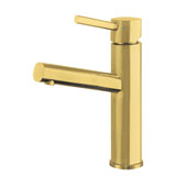 Waterhaus Lead-Free, Solid Stainless Steel Single lever Elevated Lavatory Faucet In Brass, 2-3/8''W x 6-1/2''D x 12-1/4''H